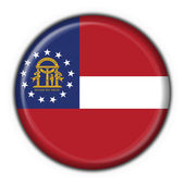 Georgia (USA State) button flag round shape — Stock Photo