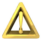 Hazard warning attention sign with exclamation mark symbol on a — Stock Photo