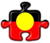 Australian Aboriginal button puzzle round shape — Stock Photo
