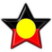 австралийских аборигенов кнопку флага звезды формы — Стоковое фото