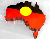 3d flag map of Australian Aboriginal — Stock Photo