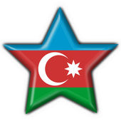 Azerbaijan button flag star shape — Stock Photo