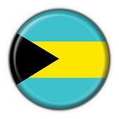 Forma rotonda bandiera pulsante bahamas — Foto Stock