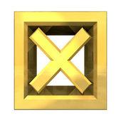 Ko teek in goud geïsoleerd - 3d — Stockfoto