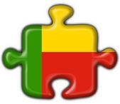 Benin button flag puzzle shape — Stock Photo