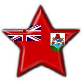 Bermuda button flag star shape — Stock Photo