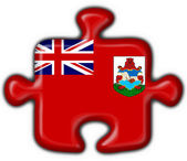Bermuda button flag puzzle shape — Stock Photo