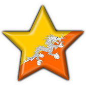 Bhutan button flag star shape — Foto Stock