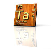 Tantalum form Periodic Table of Elements - wood board — Stockfoto