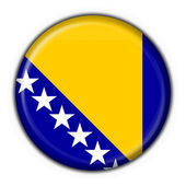 Bosnia button flag round shape — Stock Photo