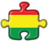 Bolivianska knappen flagga pussel, form — Stockfoto