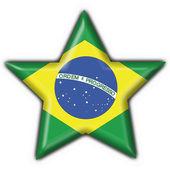 Brazilian button flag star shape — Stock Photo