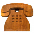 Phone symbol in wood - 3D — ストック写真