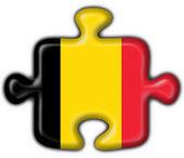 Belgia przycisk flaga logiczne kształt — Zdjęcie stockowe