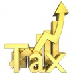 Постер, плакат: Tax statistics graphic in gold