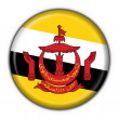 Brunei button flag round shape — Stock Photo
