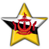 Brunei button flag star shape — Stock Photo