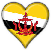бруней кнопку флаг формы сердца — Стоковое фото