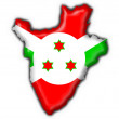 Burundi button flag map shape — Stock Photo