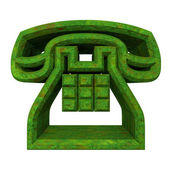 Phone symbol in grass - 3D — Stock fotografie