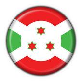Burundi tlačítko příznak kulatý tvar — Stock fotografie