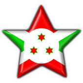 Burundi button flag star shape — Stock Photo