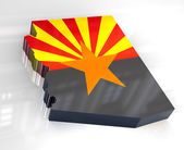 3d Flag map og Arizona — Foto Stock