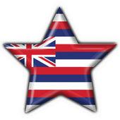Hawaii (USA State) button flag star shape — Stock Photo