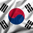 Foto Stock: 3D Flag of South Koresatin