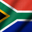 Stock Photo: 3D Flag of South Africwaving