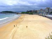 Plaży sardinero — Zdjęcie stockowe