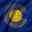 3D Flag of  Commonwealth of satin — Foto de Stock