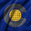 Foto Stock: 3D Flag of Commonwealth of satin