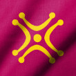 Stock Photo: 3D Flag of Cantabri- Labaro waving