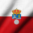 3D Flag of Cantabria waving — ストック写真