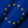 Stockfoto: 3D Flag of EuropeUnion waving