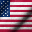 3D Flag of USA waving — Stock Photo