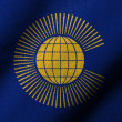 图库照片: 3D Flag of Commonwealth waving