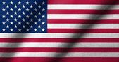 3D Flag of USA waving — Stockfoto