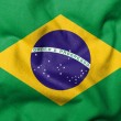 3D Flag of Brazil — Stockfoto