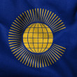 图库照片: 3D Flag of Commonwealth of Nations