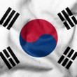 3D Flag of South Korea — Stockfoto