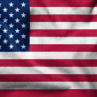 Foto Stock: 3D Flag of USA