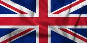 3d flagge uk — Stockfoto