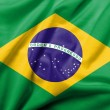 Stockfoto: 3D Flag of Brazil satin