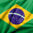 Stock Photo: 3D Flag of Brazil satin