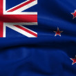 3D Flag of New Zealand satin — Stok fotoğraf