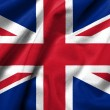 Stock Photo: 3D Flag of UK satin