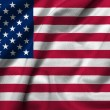 3D Flag of USA satin - Stock Photo