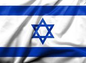 3D Flag of Israel satin — Stockfoto